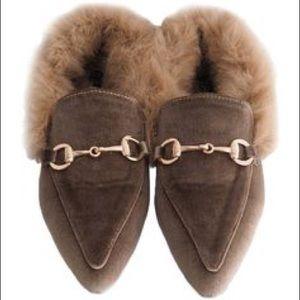 Megan Inner Fur Flats